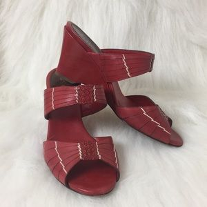 Cole Haan Red Slide Wedges